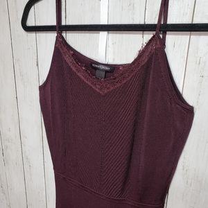Victoria's Secret Burgundy Heavy Knit Fit & Flare